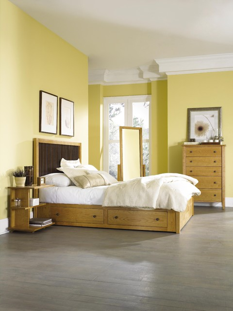 Dominion Natural Cherry Bedroom contemporary-bedroom