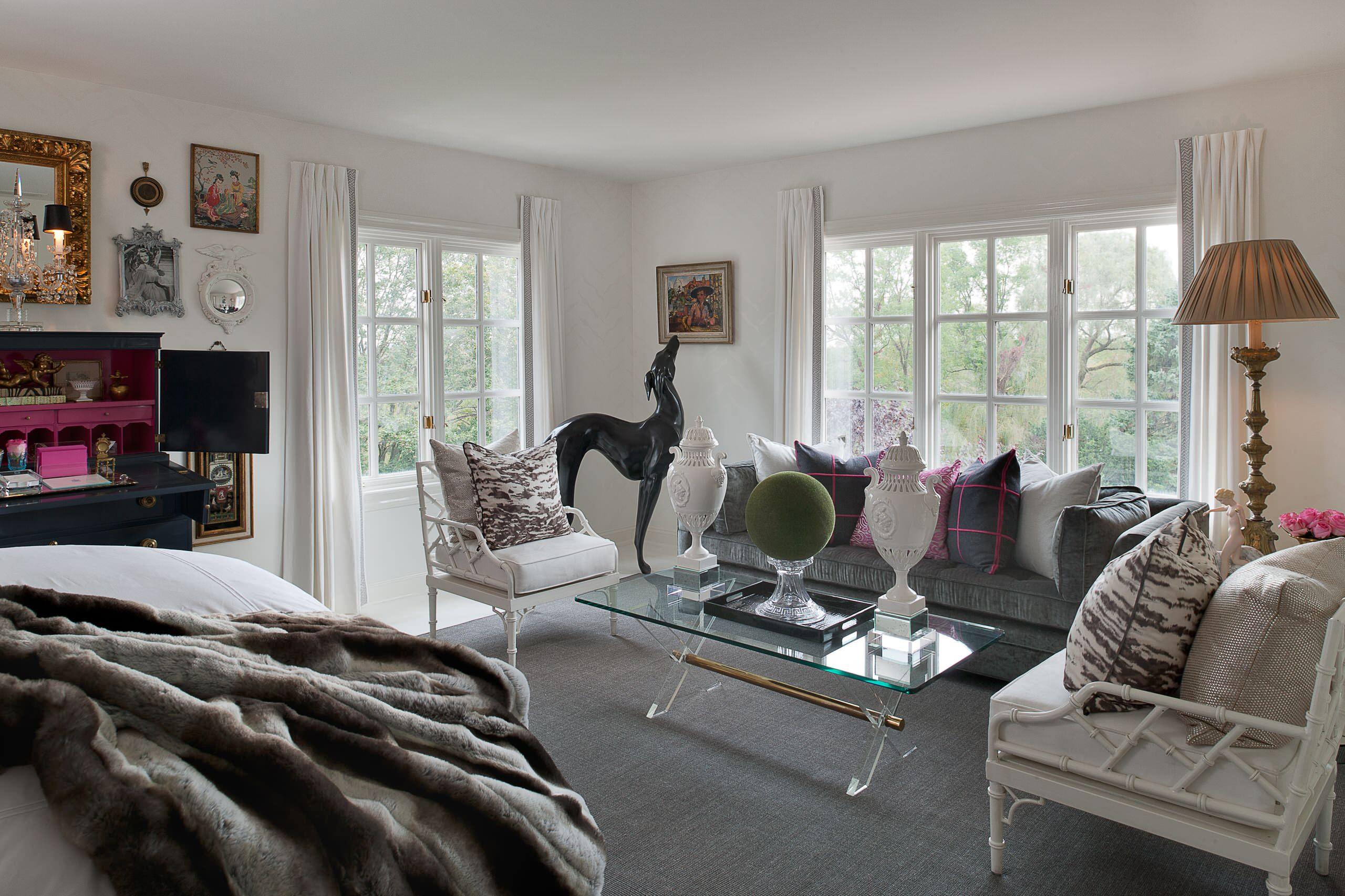 Gray Walls Brown Furniture Houzz