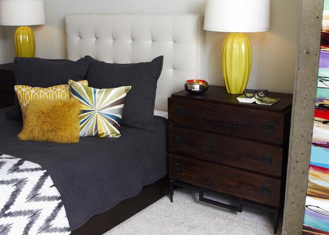 Downtown Condo contemporary-bedroom