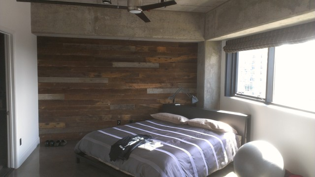 Downtown Highrise Loft contemporary-bedroom