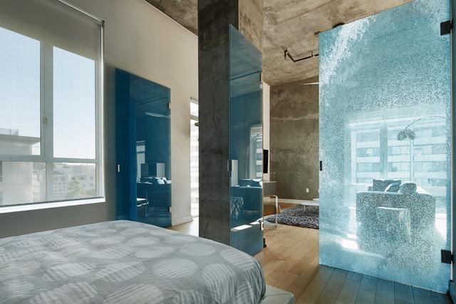 downtown loft moderne chambre los angeles par dtla design. Black Bedroom Furniture Sets. Home Design Ideas