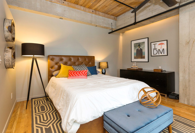 downtown loft in des moines ia transitional bedroom other