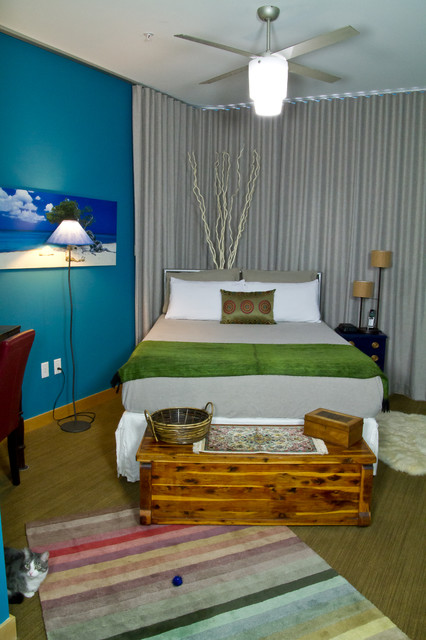 Downtown Madison Wi Condo Eclectic Bedroom Milwaukee By Dc Interiors Renovations