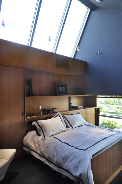 Downtown penthouse contemporary bedroom