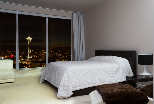 Downtown Seattle Luxury View Condo contemporary-bedroom