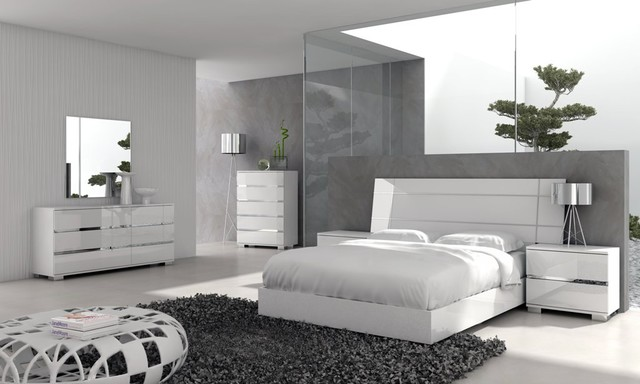 Dream Modern Bedroom Set in Walnut 253590 Modern Bedroom
