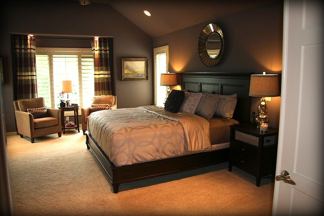 Dreamy Purple Master Bedroom Suite - Traditional - Bedroom - Omaha ...