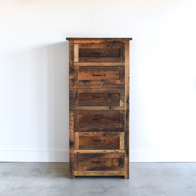 Dressers nightstands rustic bedroom chicago by for Tall rustic nightstands