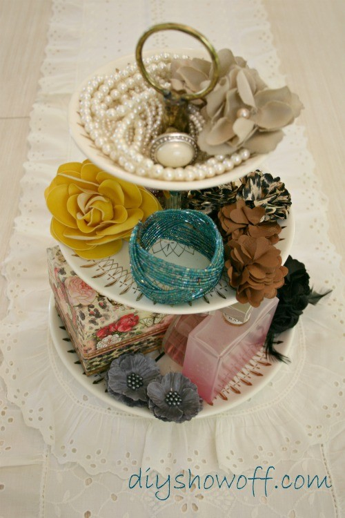 Tiered trays as jewelry holders
