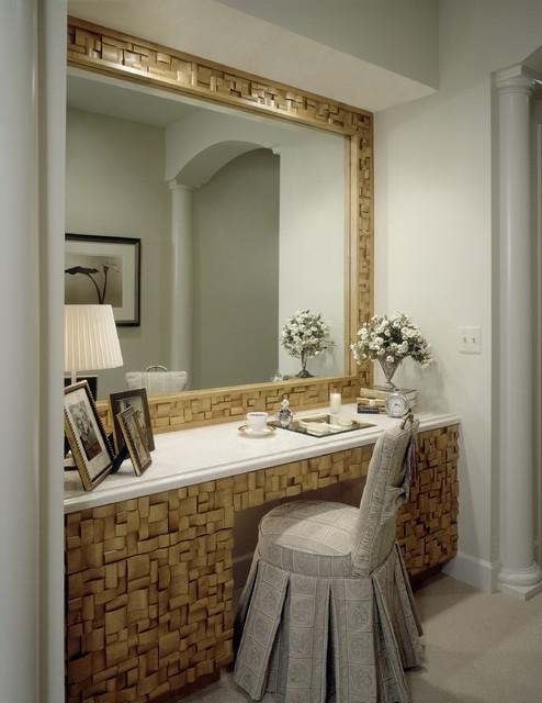 dressing table transitional wardrobe detroit by dunlap design group llc. Black Bedroom Furniture Sets. Home Design Ideas
