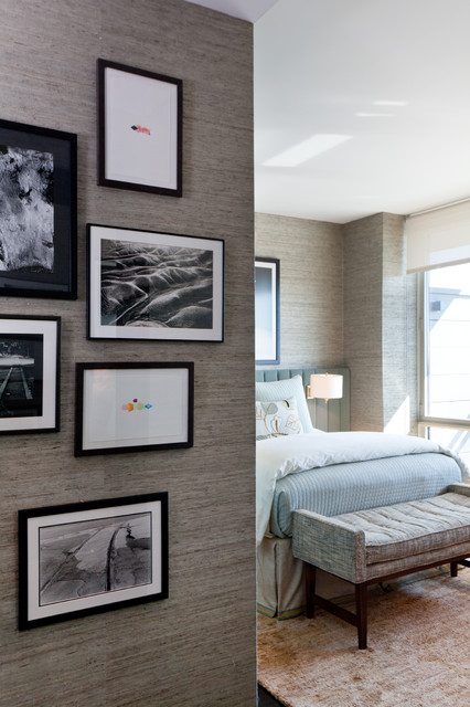 Drew McGukin Interiors - Chelsea Apartment contemporary bedroom