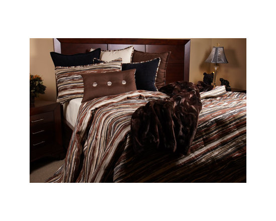 Bedding 2013 - DRIFTWOOD: A fun mixture of Seal Brown, Taupe, Beige, Jade Green and Glaucous elevates this western Chenille pattern. Enhanced with matching trim.