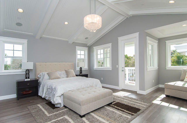 Drum Shade Crystal Chandelier in Transitional Bedroom Casual and ...