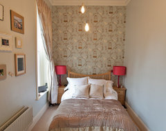 Duck Egg and Pink Bedroom contemporary-bedroom