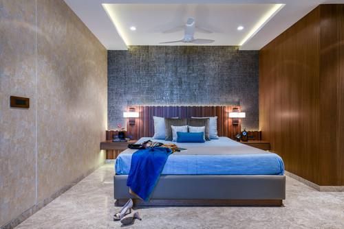 Bedroom with False Ceiling Design
