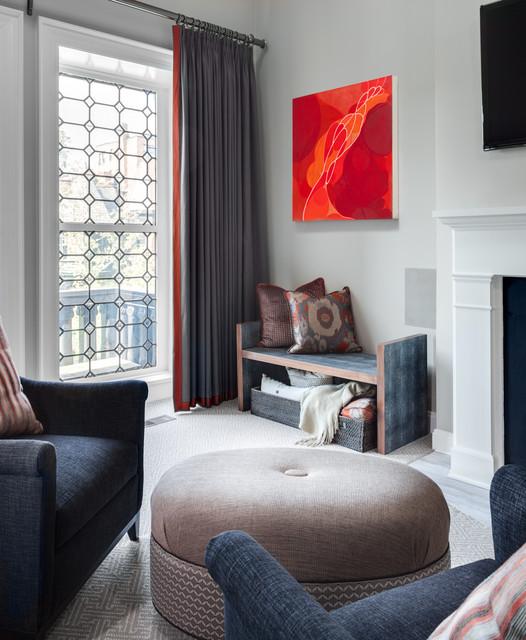 Chandelier Transitional Bedroom Design Ideas: DuPont Circle