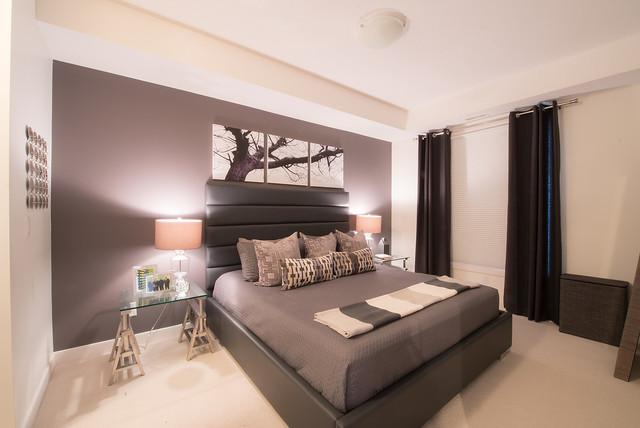 Dyer 39 s bachelor condo unit modern bedroom edmonton for Interior design companies edmonton