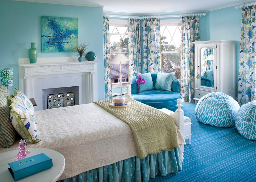 Spavaća soba uređena prema tonovima prirode