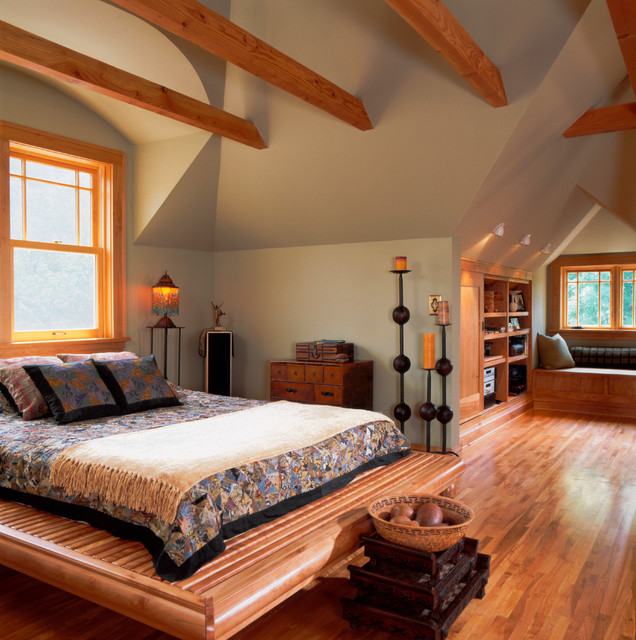 Eclectic attic finish eclectic bedroom minneapolis for Eclectic master bedroom ideas