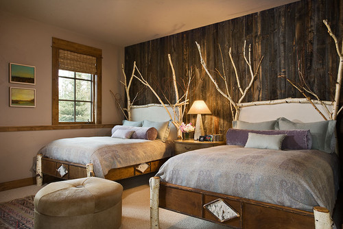 rustic chic: 12 reclaimed wood bedroom decor ideas - setting for four