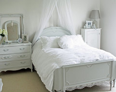 French Larkspur eclectic bedroom