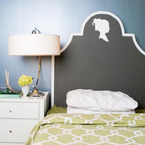 headboard eclectic bedroom