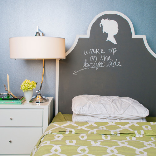 eclectic bedroom Where to Use Chalkboard Paint