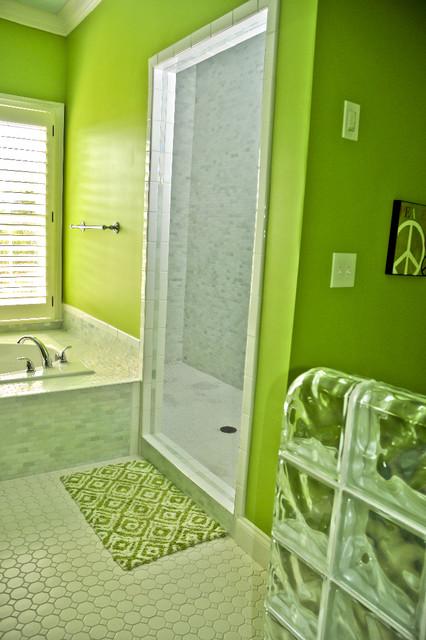 Teen Suite Master Bath eclectic-bedroom