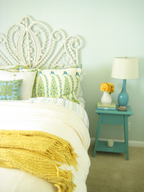 Light Turquoise Bedroom eclectic bedroom