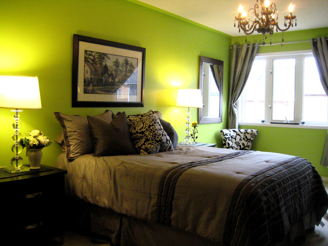 Green Chic modern bedroom