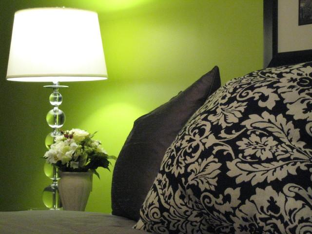 Green Chic eclectic-bedroom