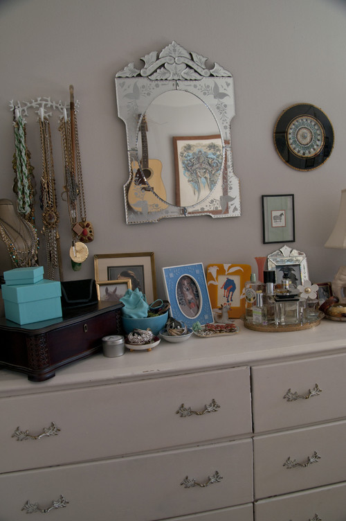 jewelry storage eclectic bedroom