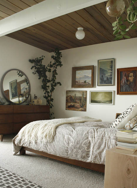 Eclectic Eichler Bedroom midcentury-bedroom