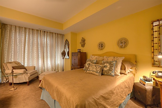 Eclectic fun traditional-bedroom