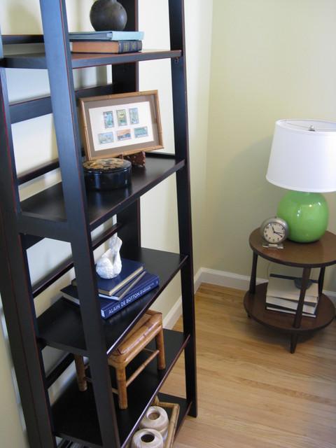 Eclectic Guest Bedroom Decor Bookcase eclectic-bedroom