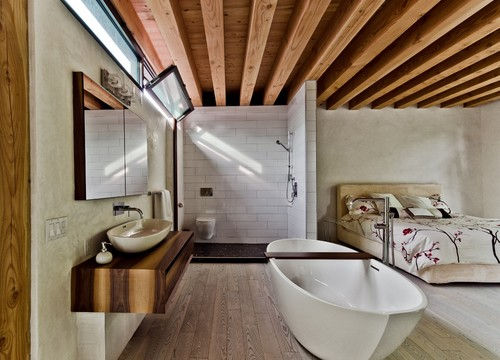 open concept bathroom design