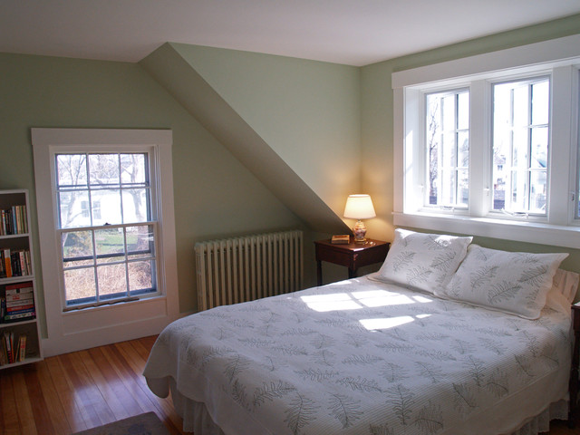 edgartown dormer renovation bedroom boston by katie