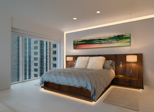 Edge Lighting And Pure Lighting Contemporary Bedroom