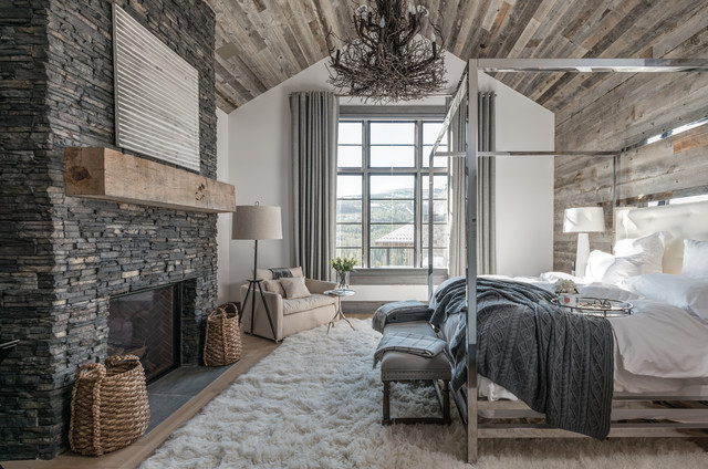 Rustic Bedroom Idea In San Diego