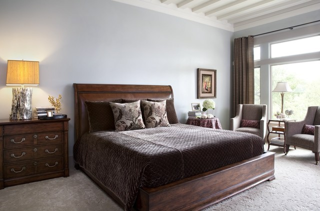 elegant bedroom modern bedroom austin by shorelines interiors