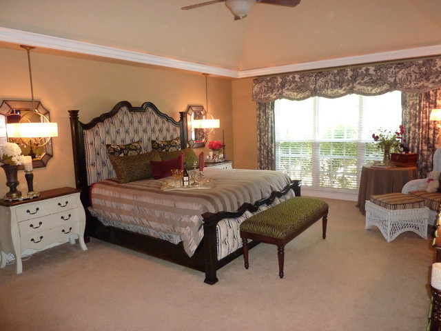 elegant country french master bedroom traditional
