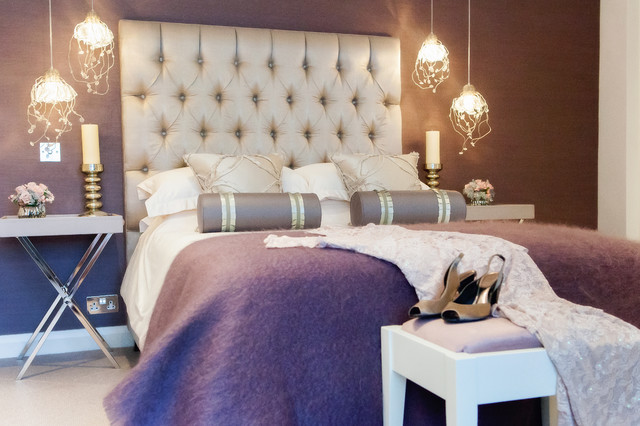 Elegant feminine bedroom for Modern feminine bedroom designs