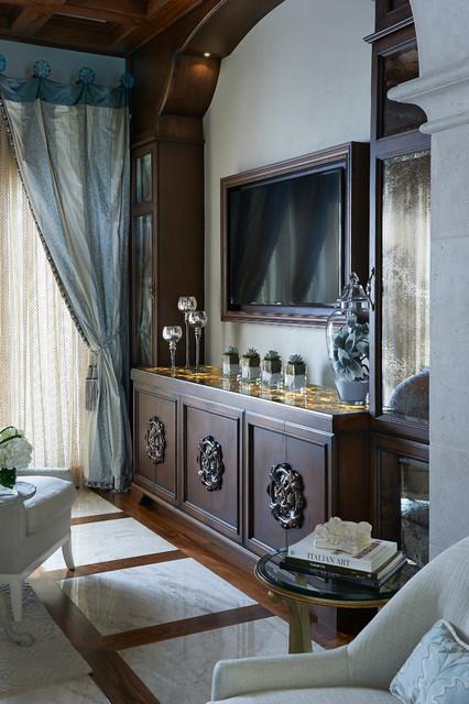 Elegant Olde World Remodel mediterranean-bedroom
