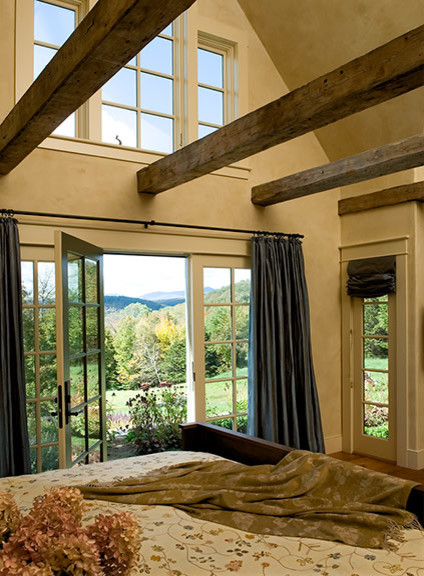 Elegant rustic rustic bedroom boston by sargent for Rustic elegant bedroom