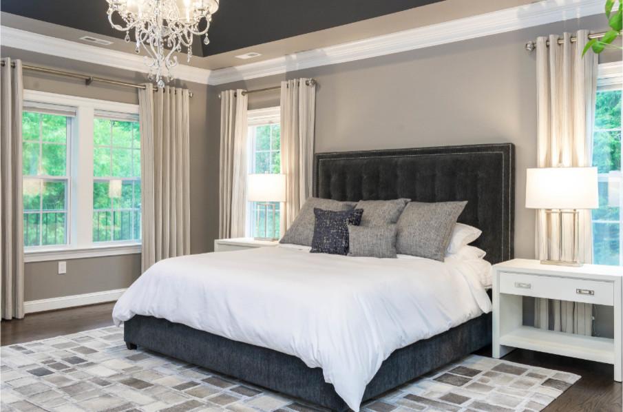 Elegant Shades of Gray Master Bedroom