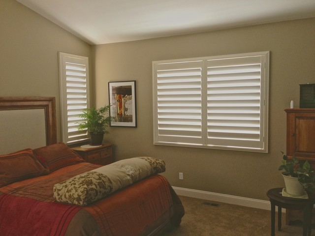 Elizabeth Co Project Interior Plantation Shutters Contemporary Bedroom Other Metro By