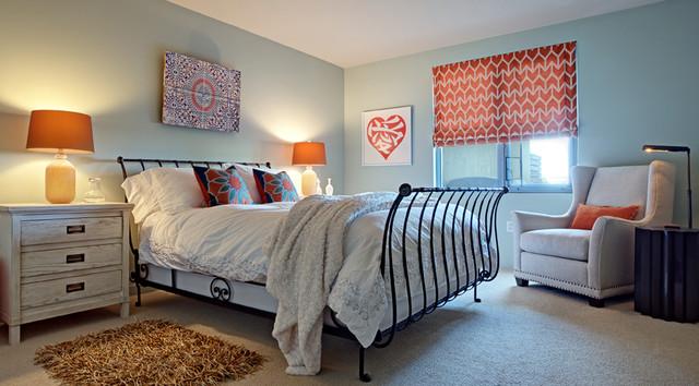 Emeryville Condo - Guest Bedroom eclectic-bedroom