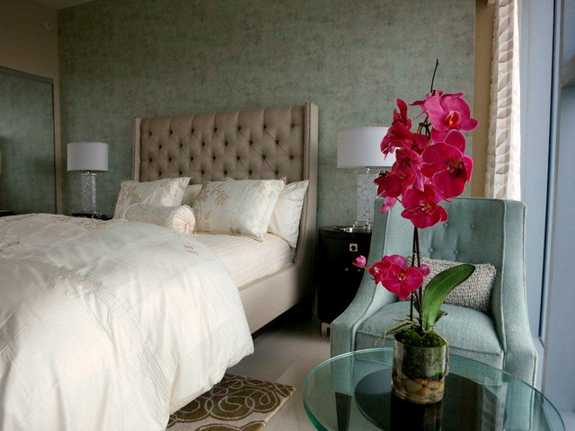 Emilio robba phala orchid in rota vase bedroom other for Fuschia bedroom ideas