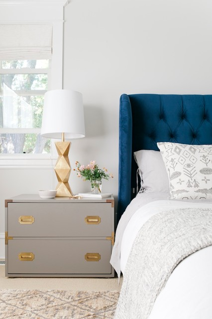 Emily Henderson Curbly Master Bedroom With Blinds Roman Shade Eclectic