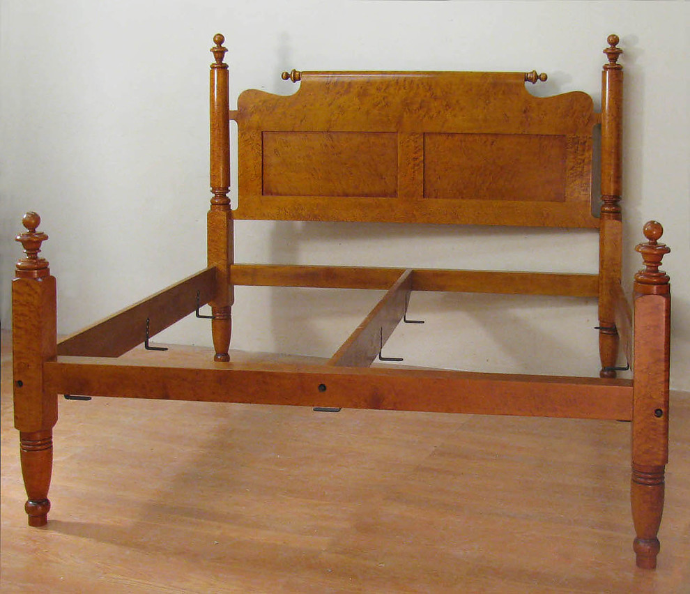 Empire Birdseye Maple Antique Bed With